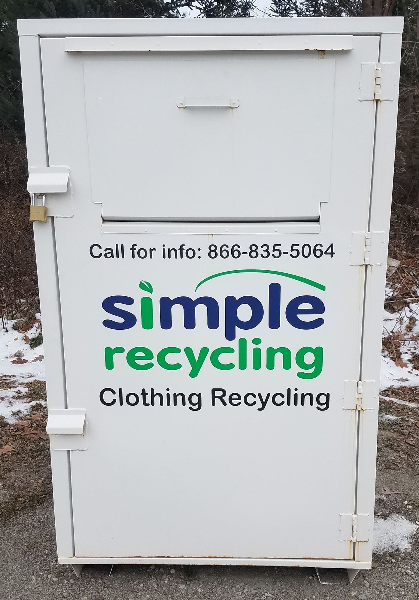 Simple Recycling Clothing Donation Bin
