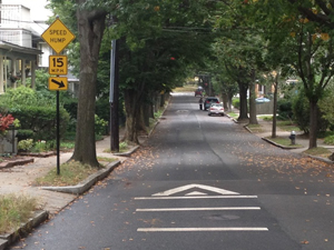Raised Speed Humps on Kenwood Street