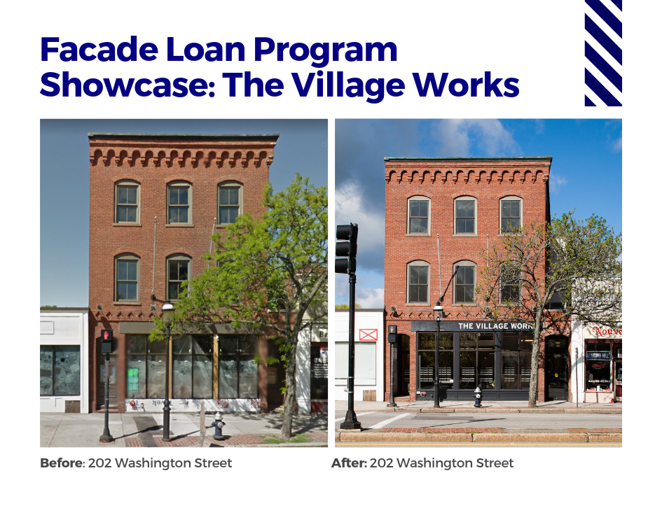 Facade Loan Program Showcase: The Village Works - Before and After Photos