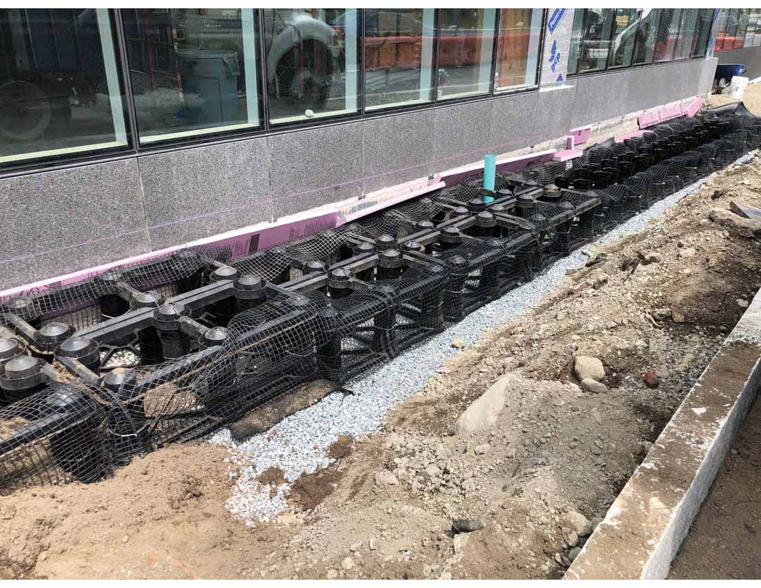Image of silva cells being installed on the corner of Brookline Avenue